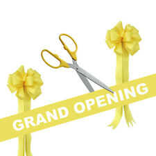 "25"" Yellow/Silver Ceremonial Ribbon Cutting Scissors Grand Opening Kit"