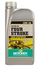 huile motorex moto  4 temps    four stroke  10w40  semi synthetic  1 litres