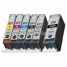 6* PACK PGI-220 CLI-221 Ink Tank for Canon Printer Pixma MP980 MP990 NEW