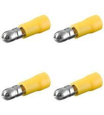 50 Rundstecker gelb, d= 5,00 mm für Kfz, Elektro, Elektronik u. Hobby b.300 Volt