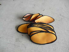 Vintage Lot of 16 Blank Orange & Brown Oval Uniform Patches