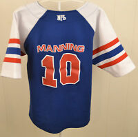 Reebok New York Giants Eli Manning #10 NFL Baseball Jersey Youth Large Blue