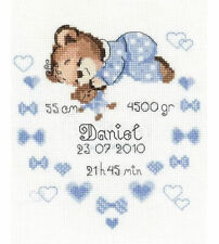 Boy Birth Announcement Cross Stitch Kit