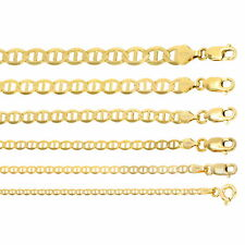 "14K Yellow Gold Solid 2mm-7.5mm Gucci Anchor Mariner Link Chain Necklace 16""-30"""