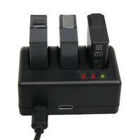 3 Ports Battery Charger + Cable For GoPro Hero 6 5 AHDBT-501 Camera Accessories
