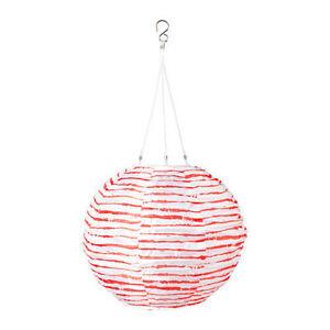 "IKEA Solvinden white,red Solar Powered decorations Lights globe 12"""