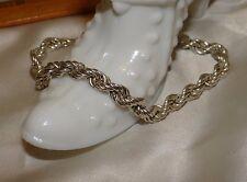 """8"""" Unisex Designer Sterling Silver 925 Italian Rope Bracelet"""