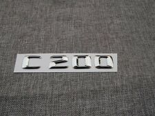 3D Chrome Rear Trunk Letters Number Emblem Emblems Badge for Mercedes Benz C200