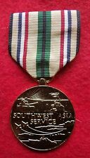 America USA South West Asia Service medal with wearing brooch