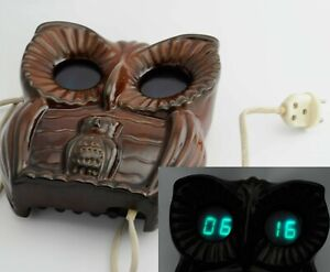 Сhristmas Decoration Eyes СLOCK LAMP OWL ELEKTRONIKA-01 VFD Christmas Ceramic