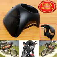 """Universal motorcycle 7"""" Cafe Racer Headlight Fairing Screen Windshield Cover USA"""
