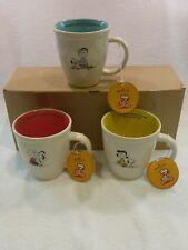 NEW VTG Hallmark Peanuts Mugs Set of 3 Charlie Brown, Snoopy, Lucy & Linus NIB