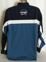 Wrangler Western Long Sleeve Pearl Snap Shirt Vintage Spell Out Mens XL