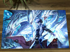 NEW Yu-Gi-Oh! Playmat Kaiba Seto Blue-Eyes White Dragon TCG Play Mat & Free Bag