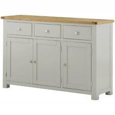 Padstow Painted Grey Sideboard / Solid Wood Painted Oak Sideboard / Cupboard