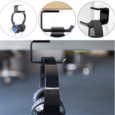 Simple Headphone Stand Hanger Hook Tape Under Desk Dual Headset Mount Holder HS