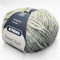 """500g (27€/kg) Patons / Schachenmayr """" TWEED STYLE """" 89 Salbei weiche Wolle"""