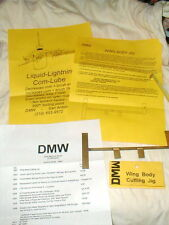 "DMW Wing Brass Body Cutting Jig 7 3/8"" X 3 1/6"" NOS Duax Machine Works TX"
