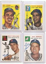1954-54 topps ARCHIVES auto-SIGNED ray CRONE set/card #206 BRAVES BB TEAM-1991