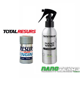 RESURS Total Nano Engine Oil Additive engine Restorer & nano GLASS Protection