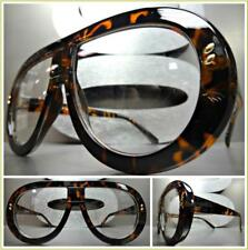 OVERSIZED EXAGGERATED RETRO Style Clear Lens EYE GLASSES Tortoise Fashion Frame