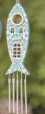 Galgo MARÍTIMA diseño Colgante Azul Madera Pescado Juego de sonidos