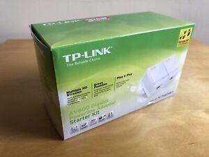 TP-LINK AV600 Gigabit Powerline Adapter Starter Kit