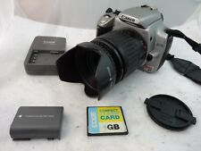 Canon EOS Rebel XT Digital Camera 35-80MM Lens Battery Memory Charger TESTED