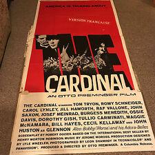 The Cardinal 1964 Original French Movie Poster Drama History War 3 Sheet Three