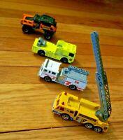 Lot of 4 Matchbox: 2013 Rumble Raider & 3 Fire Engines: Pierce Dash, 1982 & 2006