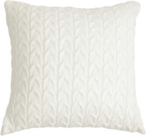 ToGeeKa Cable Knit Decorative Throw Pillow Covers,8 x 18 inch,Cream