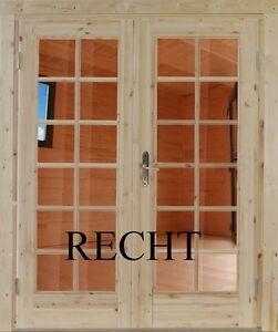 Doppeltür Einbautür  Gartenhaustür Holztür Einzeltür Nebeneingangstür Nach Maß