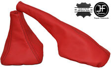 RED LEATHER BLACK STITCH GAITERS SET FOR SEAT IBIZA CORDOBA MKII 6K 1993-1999