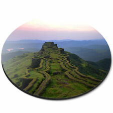 Round Mouse Mat - Rajgad Sunset India Landscape Office Gift #3606