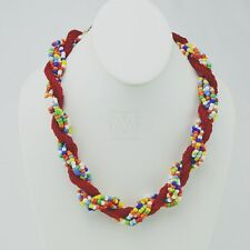 Maasai Market African Jewelry Handmade Necklace Wood Beads 41-111