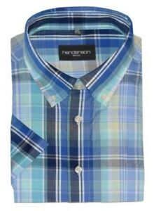 Henderson Cotton Rich Check Leisure SS Shirts, Multiple Styles
