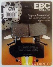 Harley Davidson Electra Glide (2008 to 2017) EBC Organic REAR Brake Pads (FA409)