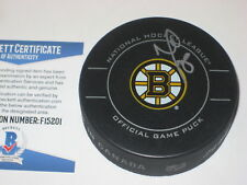 NATHAN HORTON Signed Boston BRUINS Official GAME Puck w/ Beckett COA