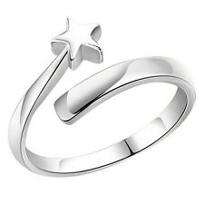 New Design Women Silver plated Star Opening Adjustable Couple Rings Gifts