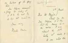Anglo-Irish Writer MORETON FREWAN Autograph Letter Signed - 18??