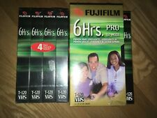 Lot of 10 Factory Sealed Fuji 6 Hour Blank VHS Tapes