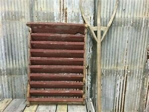Wood Barn Louver, Architectural Salvage Shutter, Rustic Decor, Old Barn Vent D,