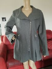 LAUNDRY BY SHELLI SEGAL WOOL BLEND COAT GRAY CHARCOAL SIZE 14 NWT