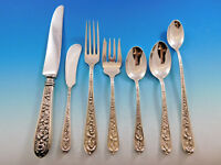 Corsage by Kirk Stieff Sterling Silver Flatware Set for 8 Service 60 pieces