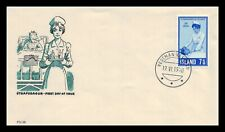 Iceland 1970 FDC, 50th Anniversary of the Icelandic Nurses Association. Lot # 8.