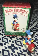 Hallmark 1998 Merry Miniatures Disney Mickey Express #1 Mickey's Locomotive
