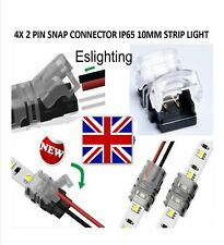 4 X  HIPPO-M SERIES  WIRE TO 10MM  IP65 LED STRIP SNAP CONNECTORS SOLDERLESS