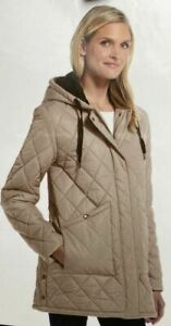 Weatherproof Women's Quilted Zip-Up Jacket, Hooded, Insulated Jacket, Size S - M