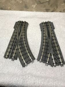 Lot 2 MTH Rail King - Real Trax Left/ Right Hand Switches 042, 031 Track Only