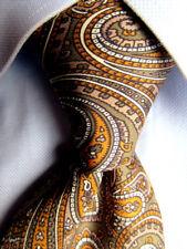 Men's Eaton Olive Paisley Silk Tie A28596